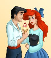Collab: Eric and Ariel by asa-bryndis