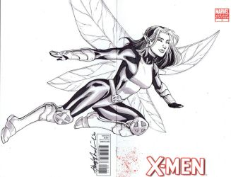Pixie quick cover sketch by wrathofkhan