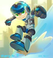 Mighty no. 9 by lazesummerstone