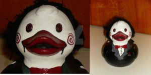 Jigsaw Puppet Duck by BlueSaltwaterTaffy