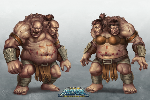Tales of Arcana: Two Headed Ogre by HappySadCorner