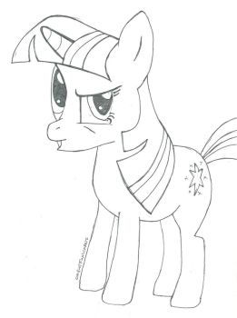 Weirded Out Twilight Sparkle by ReylPonies