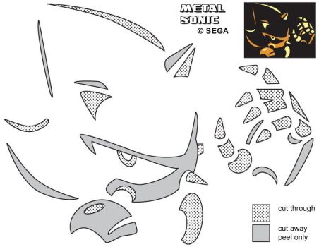 Metal Sonic Jack-O-Lantern Stencil by Rally-the-Cheetah
