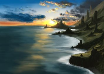 landscape from imagination by Donkeywong