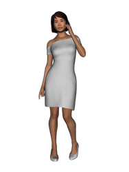 Off The Shoulder Dress for Genesis 8 Female by amyaimei