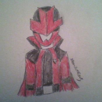 Red Lupinranger Sketch by MoonlitFlames