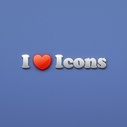 I Heart Icons by kevinandersson