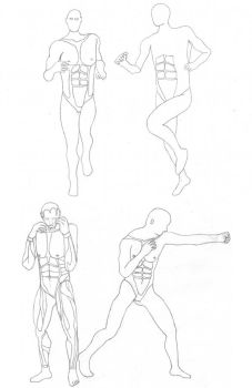 Practice: Jogging and Boxer Poses by Bladeninja76