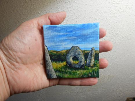 Pocket Painting - Standing Stones by zaionczyk