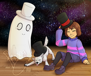 Napstablook's house of hats by ProxyComics