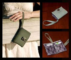 Military Green Wristlet by white-berries
