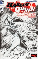 Harley Quinn - Sketch Cover by josesartcave