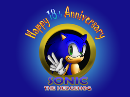 Sonic 18th Anniversary gift by sonictopfan
