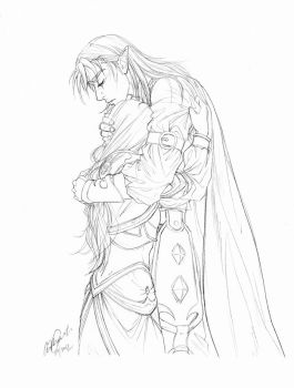 Jaina and Kalecgos: Grief and love by anniecoleptic