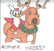 Delibird and Stantler