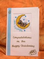 Christening Card by VickitoriaEmbroidery
