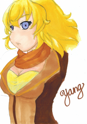 RWBY : YANG (Watercolor) by EverSnow