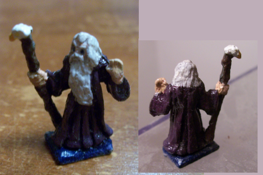 Dungeons and Dragons Miniature Wizard by ResettisReplicas