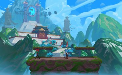 Icons Combat Arena : Forbidden Shrine Concepts by k04sk