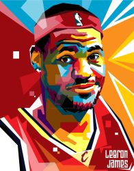 Lebron James in WPAP by ihsanulhakim
