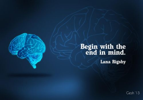 Begin with the end in Mind Poster by Kiragz101