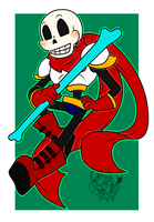 [FA] Battle-Ready Papyrus by NobleChinchi