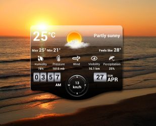 Glossy Weather for xwidget by Jimking