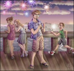 Reilly on the 4th of July by akain