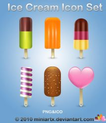 Icecream icon set by Miniartx