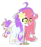 ||[Adopt pink- purple pony ] |c l o s e d by a-kiko