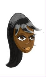 African Girl. Digital Shading first attempt. by SparklyGirl1