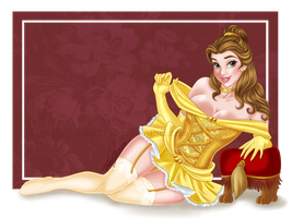 Belle Setting Up For A Pinup By Emilia89-dacrts6 by MatureAnimeLover