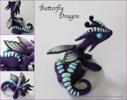 Polymer Clay Butterfly Dragon by ShaidySkyDesign