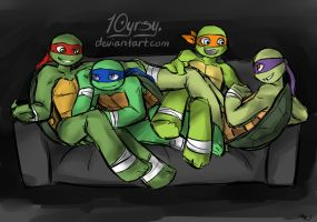 Turtle pile (gift) by 10yrsy