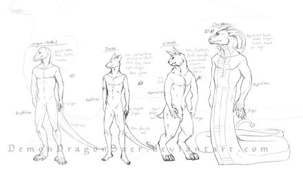 Headworld Species Designs by DemonDragonSaer