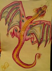Pink Dragon by savvyartwork