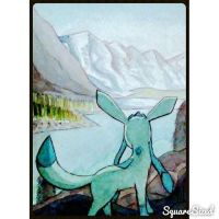 Glaceon In the Mountains by JR-Sketcher