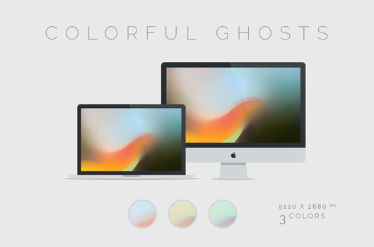 Colorful Ghosts Wallpaper 5120x2880px by dpcdpc11