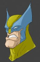 wolverine head by HEROBOY