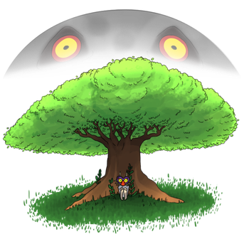 The Moon- Majora's Mask by Ominous-Artist