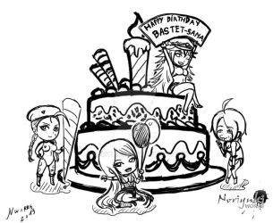 Sketch: BastetSama Birthday 2013 by Noriyuki83