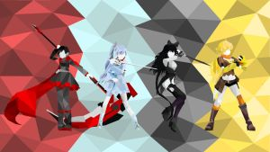 RWBY Polygon Wallpaper by Logyra