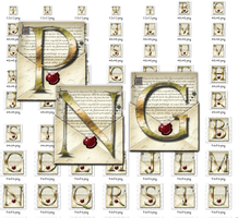Steampunk Letters Iconset in Multiple PNG format by yereverluvinuncleber