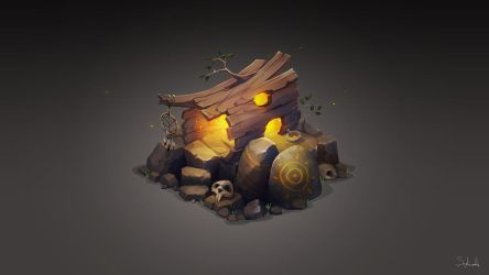 Isometric Stump House by Sephiroth-Art