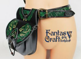 Leather quiver Celtic Wolf by Fantasy-Craft