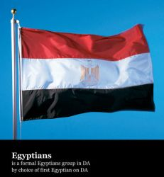 flag by egyptians