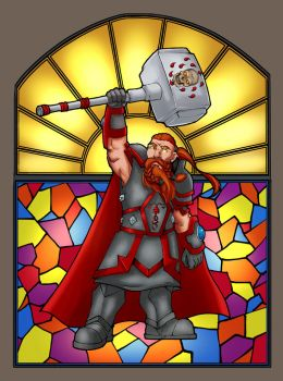 Dwarf Paladin by lonelion4ever