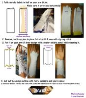 Arm Warmer Sewing Tutorial [Asuna Undine SAO] by firecloak