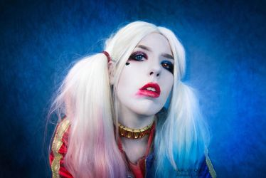Harley quinn makeuptest by SpiderCoffee