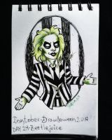 Inktober - Drawlloween / day 29: Beetlejuice by Frankienstein